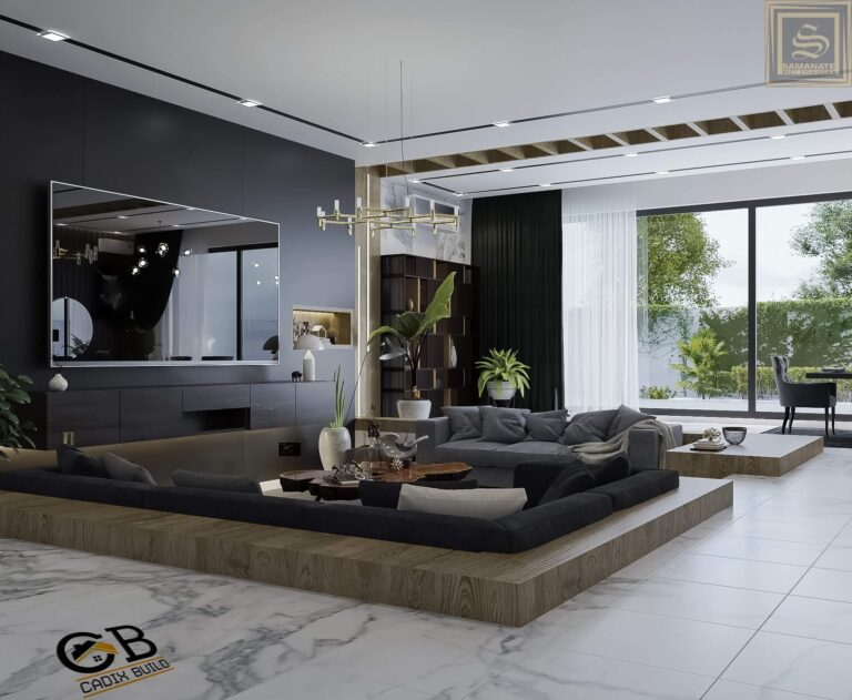 Archtectural interior design of LIVING ROOM 2
